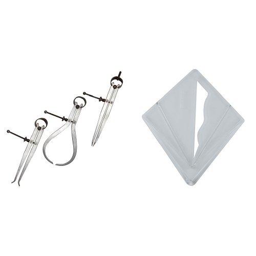 Silverline 155026 - Dispositivo de medición de láser y accesorios + 380687 - Calibre buscacentros (Capacidad 200 mm)