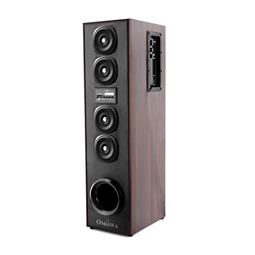 Omeewa by Obage ST-607 Single Tower Speaker System with Bluetooth, FM, USB, AUX