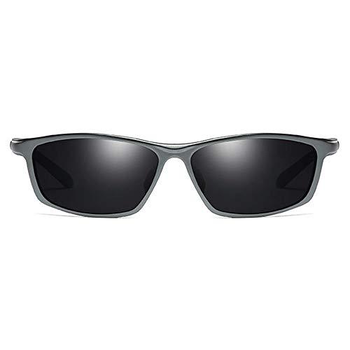 SWNN Sunglasses El Nuevo Material De Aluminio-magnesio Polarizados UV400 Gafas De Sol UV De Manera Negro/Marrón/Plata/Gris Modelos Masculinos Gafas De Sol De Conducción (Color : Gray)