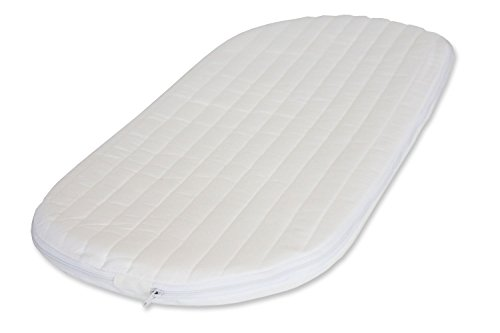 66 x 28 x 3.5 cm NightyNite Ambassador Moses Basket Mattress with Luxury Quilted Microfibre Cover