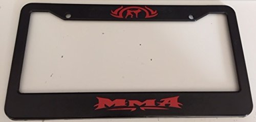 mma license plate frame - 1