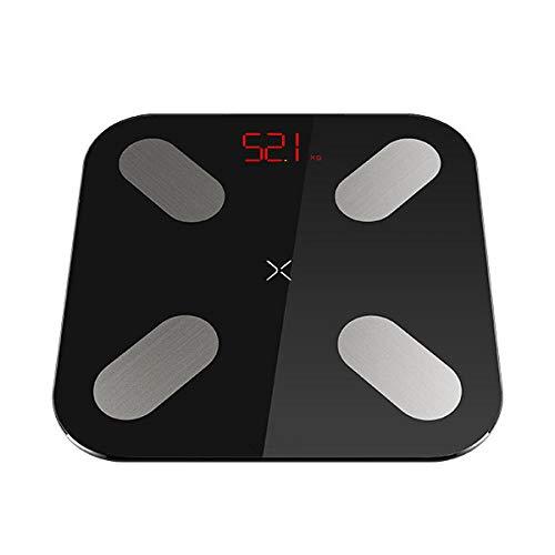 mi ni vloerweegschalen Digitale lichaamsgewicht weegschalen die 13 gegevens meten, zoals BMI slimme weegschalen met APP 150KG zwart