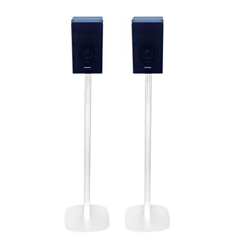 Vebos Standfuß Samsung HW-Q90R weiß EIN Paar - Hohe Qualität en optimales Klangerlebnis in jedem Zimmer - Hier können Sie Ihre Samsung HW-Q90R überall setzen, wo Sie es wollen | EIN Paar
