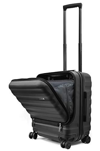 Endless Trip スーツケース 機内持込 MAXサイズ フロントオープン 軽量 サイド 滑り止め 40L 1-4泊 LCC対応 オールPC素材 マット加工 多収納ポケット 静音 8輪 キャスター TSAロック トップオープン キャリーケース 機内持
