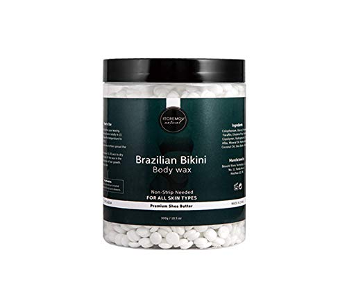 ITCREMOV Hard Wax Beads, Brazilian Bikini Hair Removal Wax,Ideal for sensitive skin and all skin types, none strips needed,300g 10.5 Oz