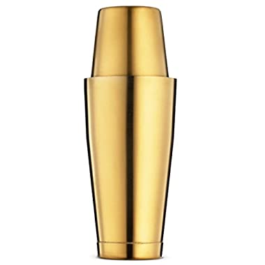 Bartender Boston Cocktail Shaker Set - Gold - Includes 28oz & 18oz Cocktail Shaker, 18/8 Durable Food Grade Stainless Steel Bar Shaker Set, Built with Heavy Weighted Shaker Tins For a Perfect Balance.