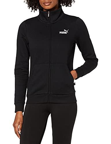 PUMA Damen ESS Track Jacket FL Jacke, Cotton Black, S