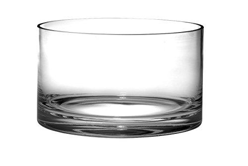 Barski - European Quality Glass - Handmade - Thick Straight Sided Salad Bowl - 10' Diameter - Made in Europe