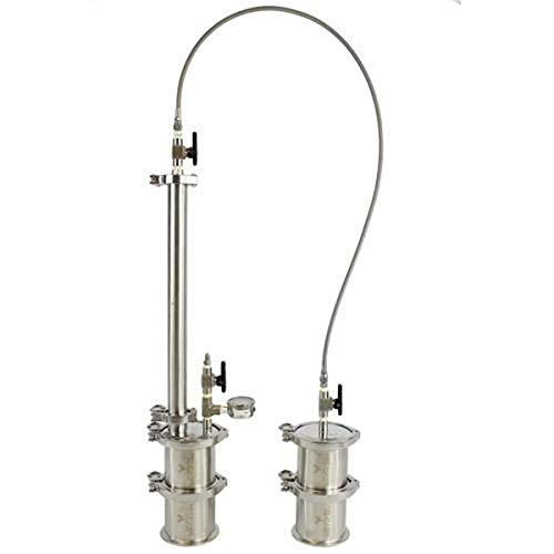 "BEST VALUE VACS MINI-135 Mini Closed Loop Extractors, 90 g Capacity, 16"""" Height x 4"""" Diameter, 304 Stainless Steel"""
