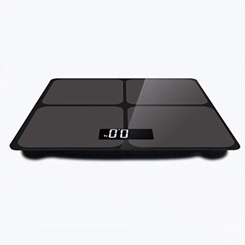 ZJHDX Digitale Lichaamsgewicht Badkamer Schaal Weegschaal Smart Step-on Technologie, Groot Platform, Gewichtsverlies Monitor Kleur: wit