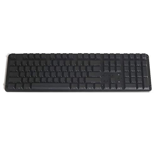 juqingshanghang1 108 KEYCAP RGB Ansi-Layout PBT 108 Side-Lit-Shine durch Backlit-Tastencaps für mechanische Tastatur (Color : Black)