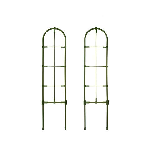 EZIZB Metal Garden Obelisk Climbing Plant Flowers Steel Frame Trellis Vines Floral Decor Army Green Yard Round Weather-Proof Metal
