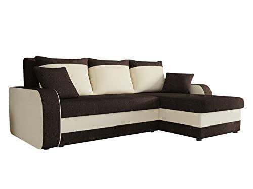Mirjan24 Ecksofa Kristofer Lux, Eckcouch Couch! mit Schlaffunktion, Zwei Bettkasten, Farbauswahl, Wohnlandschaft! Bettfunktion! Design L-Form Sofa! Seite Universal! (Porto 27 + Porto 21)