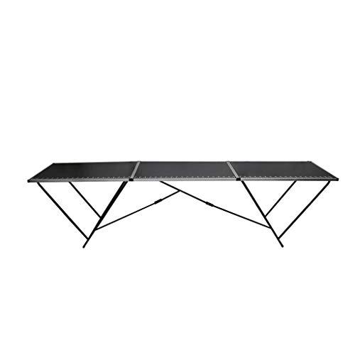Tidyard Tavolo Pieghevole per Carta da Parati MDF Alluminio,Tavolo Pieghevole per Mercatini 300x60x78cm
