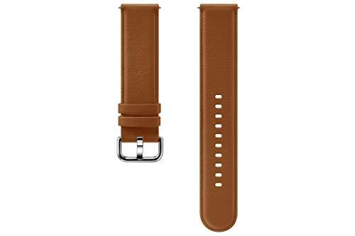 SAMSUNG Galaxy Watch Active2 - Cinturino in Pelle, Colore: Marrone