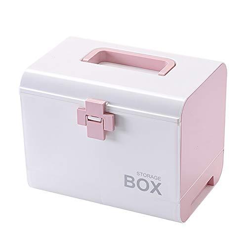 aoory Multifunktionale Medizintruhe Medikamentenaufbewahrung Erste-Hilfe-Set Medizinbox für Haushalt rose