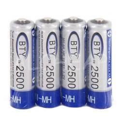 Lot de 4 piles rechargeable ACCU LR06 AA 2500 mAh Neuf