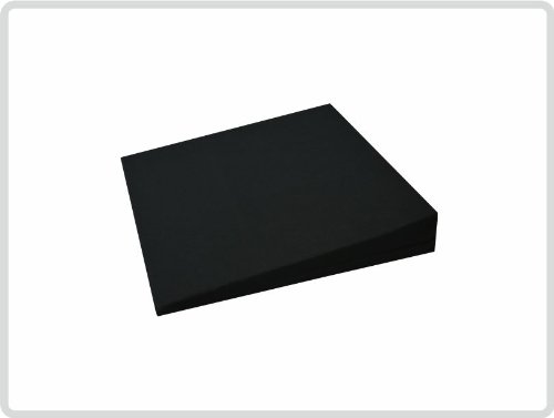 Kinder-Keilkissen 100% Baumwollbezug! 30cm x 30cm x 5cm - Farbe: schwarz - Kissen Sitzkissen Sitzkeilkissen Sitzkissen Sitzkeil