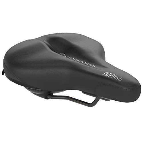 SQlab Unisex– Erwachsene 621 Ergolux Active 2.0 Fahrradsattel, Schwarz, 24 cm