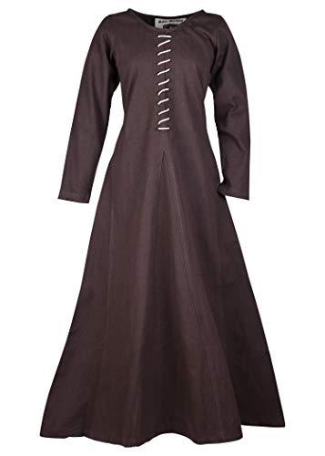 Battle-Merchant middeleeuwse jurk met veters voor dames Cotehardie AVA - lange mouwen - middeleeuwse jurk - Viking - LARP - kostuum