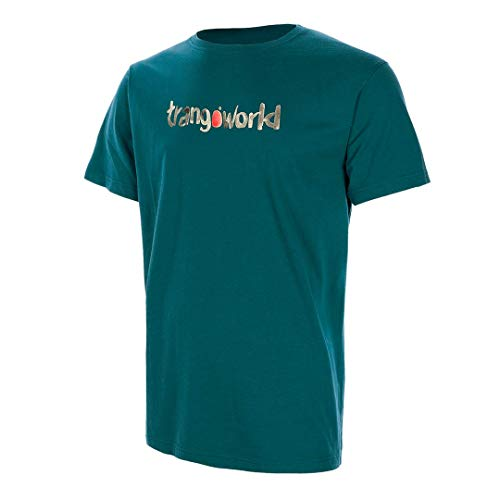Trangoworld Watercolour Camiseta, Hombre, Verde mar, S
