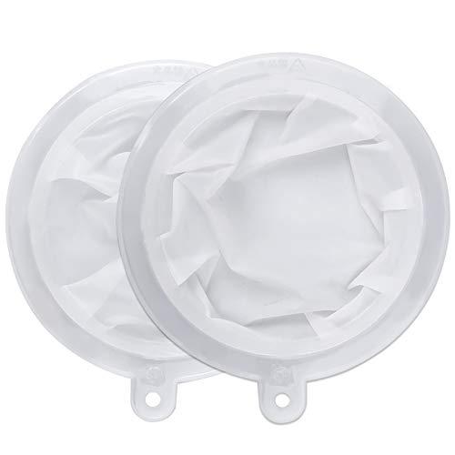 HAUSPROFI Sieb Filter Kompatibel mit 15cm Zoll Küchen Trichter für Filterung von Saft, Milch, Kaffee, Wein - 200+400 Mesh
