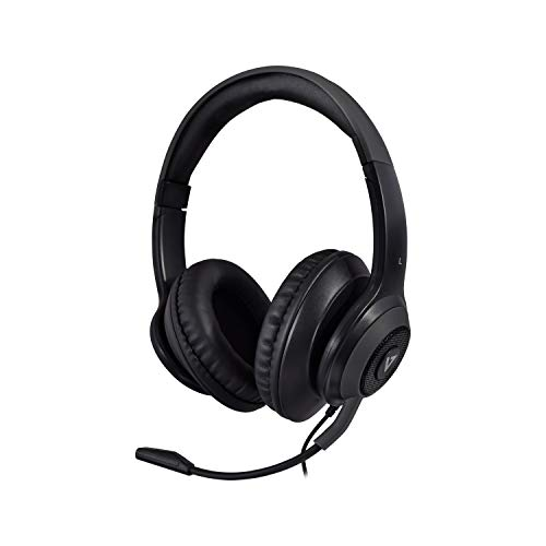 V7 Premium Over-Ear-Stereo-Headset, Boom-Mikrofon, PC, Mac, Tablets, Laptop, Gaming, Videokonferenz, 3,5 mm, USB