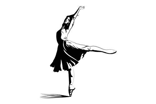 universumum muursticker Ballerina bsm033 muursticker wandsticker kinderkamer zelfklevend 40 x 48 beige