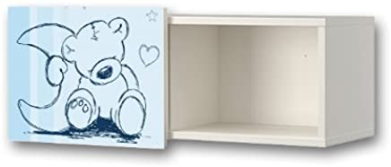 Teddy blue Furniture Film WS06 Furniture sticker matching the children s closet organizer BRIMNES IKEA Furniture Not Included STIKKIPIX