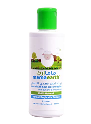 Mamaearth Nourishing Baby Hair Oil, with Almond & Avocado Oil - 200 ml