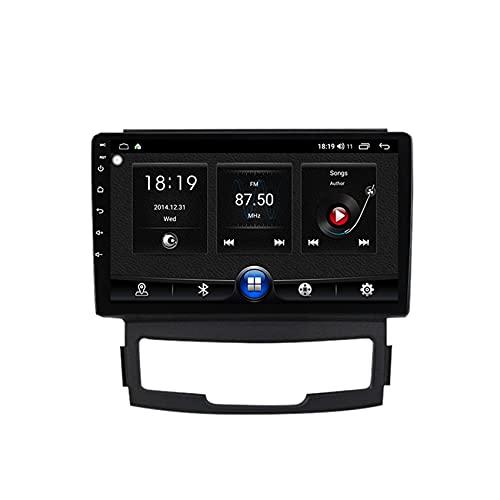 KLL Radio de Coche de Pantalla táctil HD para SsangYong Korando estéreo Doble DIN 1080P Reproductor MP5 de Coche Controles del Volante Built-in carplay Enlace Espejo(Cámara Trasera)