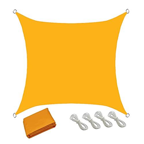 XQKXHZ Toldo Vela Rectangular 4x4 Impermeable, Toldos Exterior Terraza, Toldo Vela 95% de Bloque UV para Terrazas Patio Jardin Balcon, Tela Toldo Lonas para Pergolas Resistentes Baratos,Dark Yellow