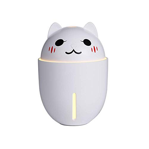 AJH Draagbaar, Luchtbevochtigers, Mini-luchtbevochtiger Mist Hoeveelheid Dempen Desktop Slaapkamer Nachtkastje Met kleine ventilator Nachtlampje Kleine USB Grote spray