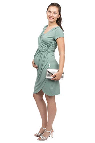 Viva la Mama - Umstandskleid Sommer Schwangerschaftskleid Hochzeit Abendkleid Hochzeitsumstandskleid Samsara mintgrün - L
