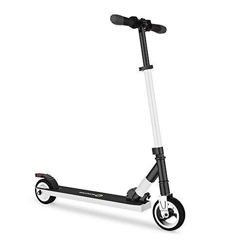 Mtricscoto Monopattino Elettrico, Pieghevole Scooter Leggero Altezza Regolabile, 250W 23km/h Massima velocità, per Adulto Pendolarismo/Bambini Regalo,Bianco