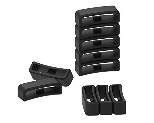 Ruentech Replacement fastener ring keeper for Garmin Vivoactive Hr Band Strap Accessories Silicone Security Clasp