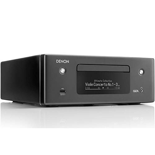 Denon RCD-N10 Hi-Fi All-in-One Receiver & CD Player   Perfect for Smaller Rooms and Houses   Wireless Music Streaming & Amazon Alexa Compatibility   Bluetooth, AirPlay 2, WiFi