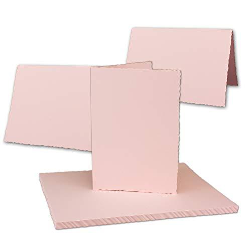 Kraftpapier 75 Kraftpapier-Karten Set Quadratisch Falt-Karten Natur-Braun 13,5 x 13,5 cm 220 g//m/² mit Brief-Umschl/ägen Quadratisch 14 x 14 cm 90 g//m/² Naturbraun