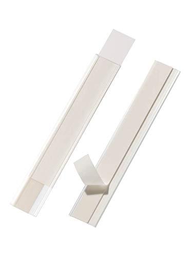 Durable 802419 Scanfi x Porta Etichetta Adesivi, Ritagliabile, 200 x 30 mm, Trasparente, Confezione da 50 Pezzi