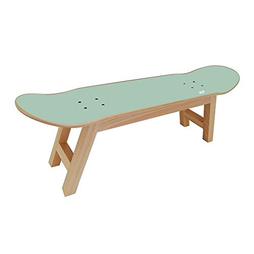 SKATE HOME Skateboard Stool for The Best Bedroom for Skateboarder/Surfer Teen - Mint Color