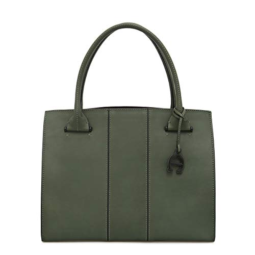 Etienne Aigner Chiara Leather Work Tote In Pine