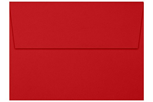 A7 Invitation Envelopes (5 1/4 x 7 1/4) - Holiday Red (50 Qty) | Perfect for Invitations, Announcements, Sending Cards, 5x7 Photos | FE4280-15-50