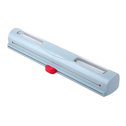 CHAW Dispensador de Plástico de Película Adhesiva Creativa con Cortador Deslizante Caja de Almacenamiento de Película Adhesiva Rellenable Cortador de Película Adhesiva Magnético