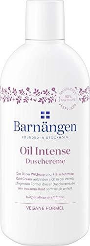 Barnängen Duschcreme Oil Intense, Creme für sehr trockene Haut, Naturkosmetik, Vegan 5er Pack (5 x 250 ml)