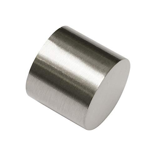 Gardinia Endkappe aluminum edelstahl-optik Ø 16 mm 2