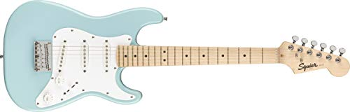 Fender Squier Mini Stratocaster - Maple Fingerboard - Daphne Blue - AMAZON EXCLUSIVE
