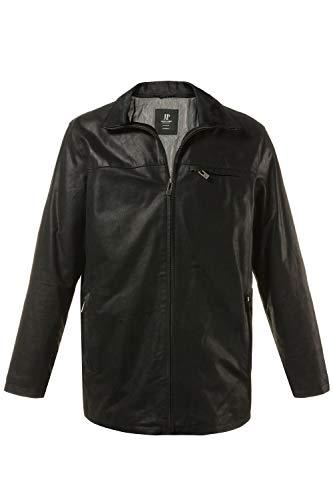 JP 1880 Herren große Größen bis 7 XL, gefütterte Lederjacke, Pork-Leder mit Zip Fleece Einsatz, im Set Handschuhe & Schal schwarz 4XL 705620 10-4XL