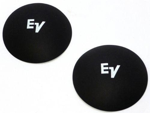 """2 EV Electro Voice 4 1/8"""" Logo Dust Caps - White Logo"""