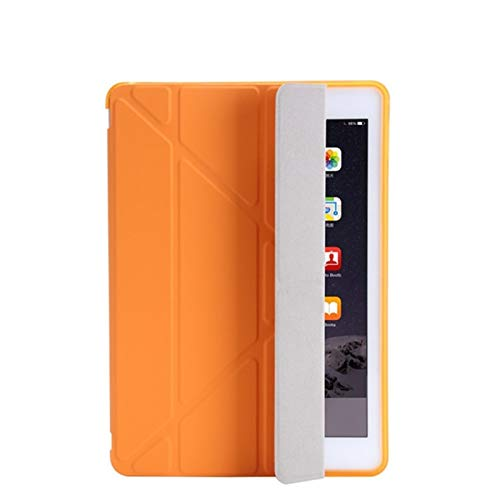 HHF Pad Accesorios para iPad 2/3/4 9.7 2018/2017 5 / 6th, Ultra Thin PU Cuero Suave Cubierta Inteligente para iPad Mini 1/2/3/4/5 7.9' (Color : Orange, Talla : Mini 5 2019 7.9inch)