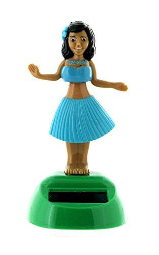 Lutèce Créations - Figura solar animada de resina, juguete bailarina hawaiana de Hula Mobile para la decoración de la casa, la oficina o el coche (Ref: HULA-02)